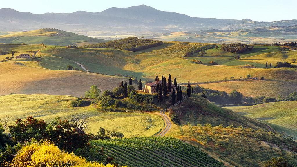 campagna San Quirico d'Orcia Toscana