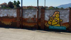 murales Via Francigena