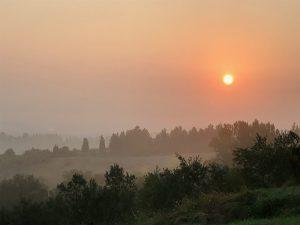 alba campagna toscana